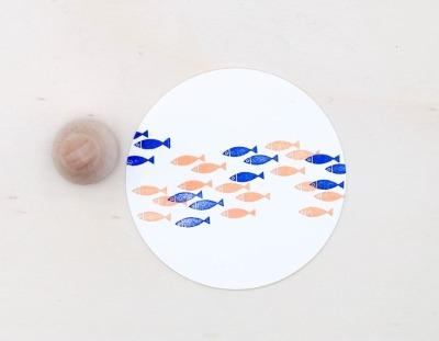 Stempel Fischschwarm - von Perlenfischer