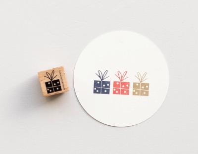 Stempel kleines Geschenk mit Schleife Stempel