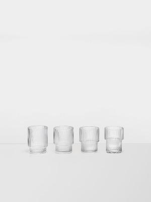 Ripple Glas 4er Pack - von Ferm Living