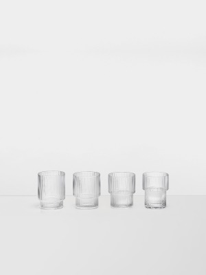 Ripple Glas 4er Pack - von Ferm Living