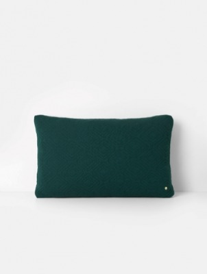 Kissen - Quilt Cushion XL - Dark Green - 80 x 50 - von Ferm Living