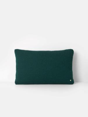Kissen - Quilt Cushion XL - Dark Green - 80 x 50 - von Ferm Living