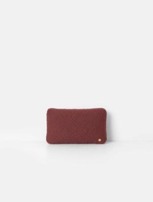 Kissen Quilt Cushion Rust 40x25cm von