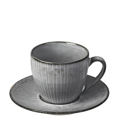 Kaffeetasse mit Untertasse Nordic Sea - blau