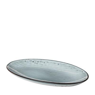 Platte oval Nordic Sea - blau