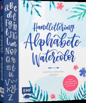 Buch Handlettering Alphabete Watercolor von EMF