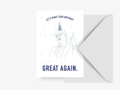 Grußkarte great again - mit Umschlag