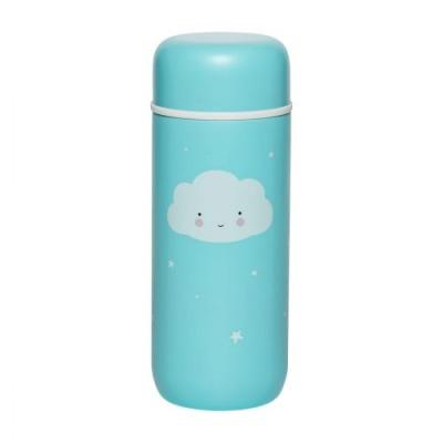 Doppelwandige Edelstahltrinkflasche: Wolke - von little lovely company