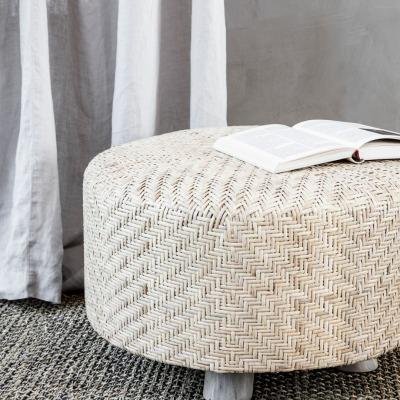 breiter Pouf Weave Natur von house