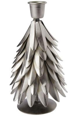 Kerzenhalter Weihnachtsbaum antik/silber - 17cm