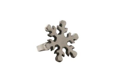 Serviettenring Snowflake / silberfarben - Durchmesser