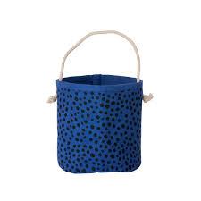 Dreieckskorb blau mini - : 14 x H: 16 cm - von Ferm Living