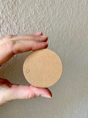 blanko Geschenkanhänger 5cm Durchmesser aus Kraftpapier