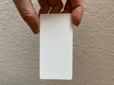 10 blanko Geschenkanhänger weiß - 9