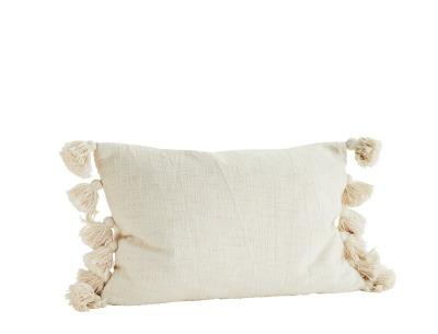 Kissenbezug mit Quasten offwhite - 40x60cm