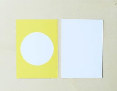 Postkarte Kreis Gelb - von Perlenfischer