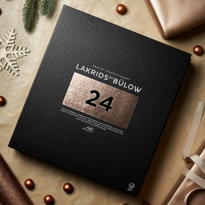 Lakrids Adventskalender mit feinster belgischer Schokolade