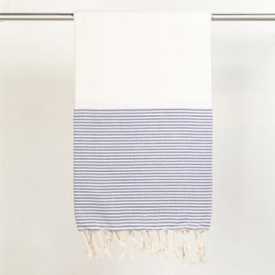 Hamamtuch Lale weiß/blau 170x100 cm von