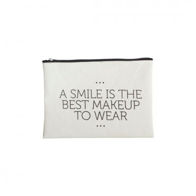 Make-up Tasche A smile... - 21 x 15cm