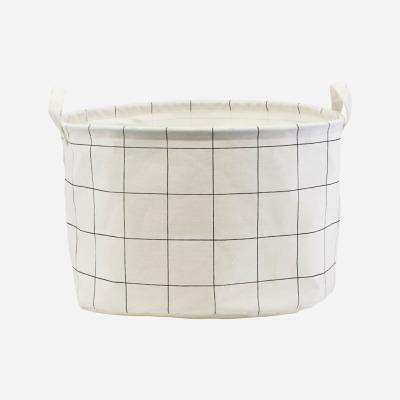 großer Aufbewahrungskorb Squares Schwarz/Weiß von house