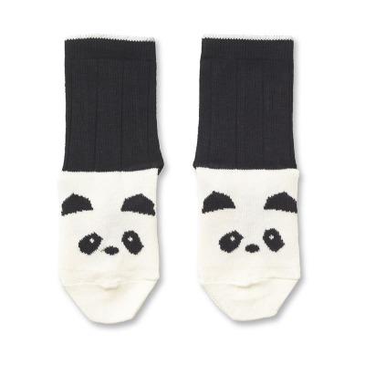 Baumwollsocken Panda - creme