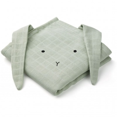 Muslin Tuch Hase - dusty mint