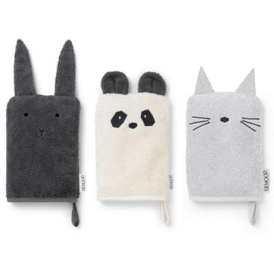 Waschtücher Hase, Panda, Katze - 3er Set Classic