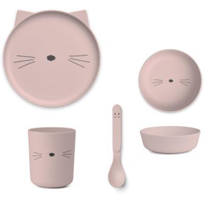 Bambus Box Set Katze - rosa