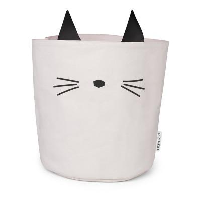 Stoff Korb Katze - rosa