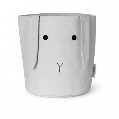 Stoffkorb Hase groß - dumbo grey