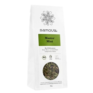 samova Tee Master Mint Refill, 50g - Reine Bio-Pfefferminze - aus kontrolliert biologischem Anbau
