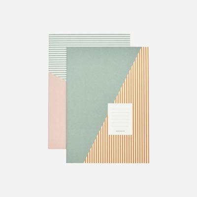 2er Set Notizbücher STRIPES von Monograph