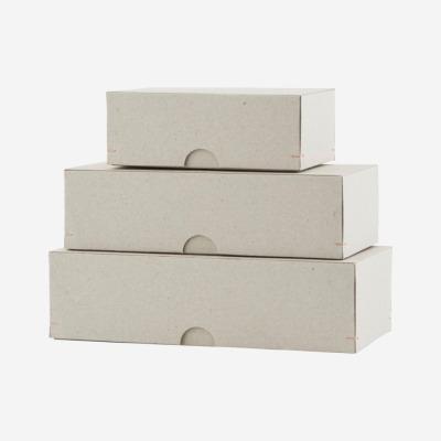 3er Set Kartons grau von Housedoctor