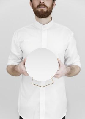 Standing Mirror - Messing, 20cm Durchmesser