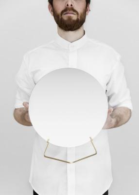 Standing Mirror - Messing 30cm Durchmesser