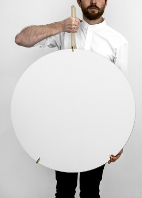 Wall Mirror - Messing, 70cm Durchmesser
