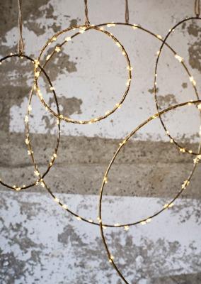 Ring aus Eisen antik-brass 40cm von