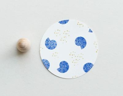 Stempel Muschel mit Punkten - Perlenfischer
