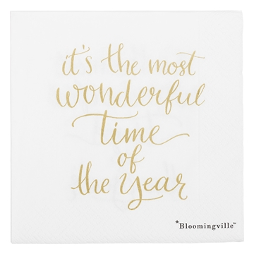 Bloomingville Serviette most wonderful time stk