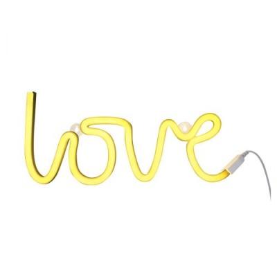 Neonstyle Lampe: Love - gelb - von little lovely company