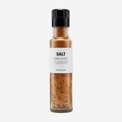 Salzmühle mit Curry und Kokosnuss Nicolas