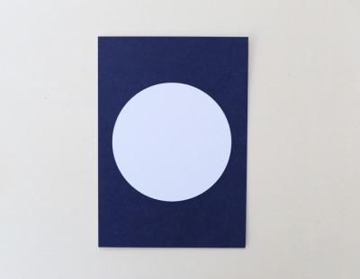 Postkarte Kreis dunkelblau - Perlenfischer