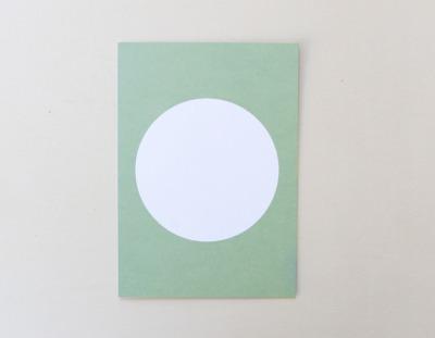 Postkarte Kreis pastellgrün - Perlenfischer