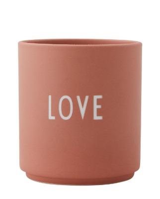 Porzellanbecher LOVE terrakotta - Design Letters