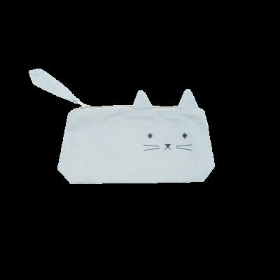 Federmäppchen - Cuddly Cat - blue