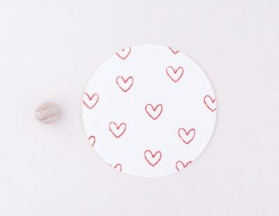 Stempel Herz outline mini von Perlenfischer