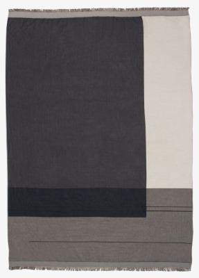 Baumwolldecke - Colour Block Decke - grau - von Ferm Living