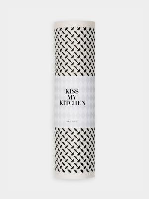 Schwammtuch-Rolle Pali Pur white black - von kiss my kitchen