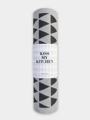 Schwammtuch-Rolle Dreieck grey black - von kiss my kitchen