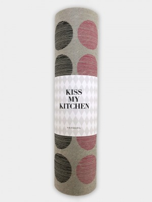 Schwammtuch-Rolle Dots grey black pink - von kiss my kitchen